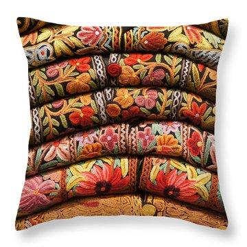 Jackets Throw Pillow by Debi Demetrion