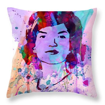Jackie Kennedy Watercolor Throw Pillow