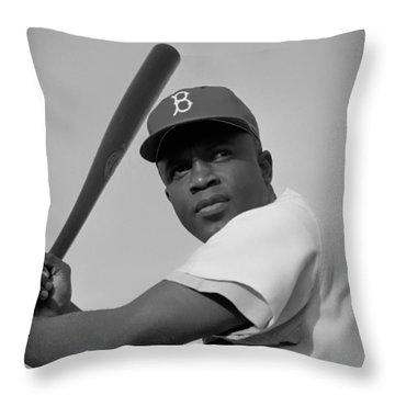 Jackie Robinson - 1954 Throw Pillow
