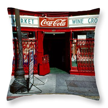 Jack's Market Throw Pillow by David Hohmann