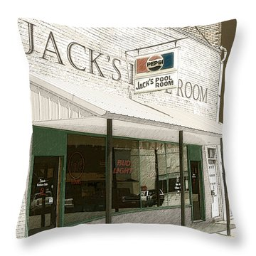 Jack's Pool Room Throw Pillow