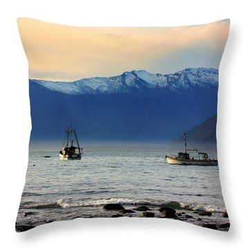 Throw Pillow featuring the photograph Jackson Bay South Westland New Zealand by Amanda Stadther