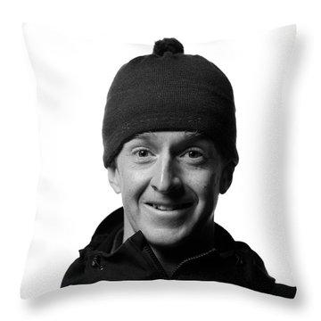Jackson Hole Alpine Guide Portraits Throw Pillow