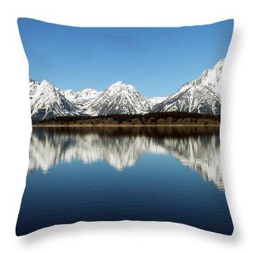 Jackson Lake Throw Pillow by David Yunker