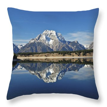 Jackson Lake Reflection Throw Pillow