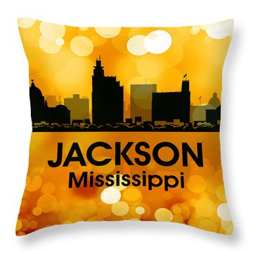 Jackson Ms 3 Throw Pillow by Angelina Vick