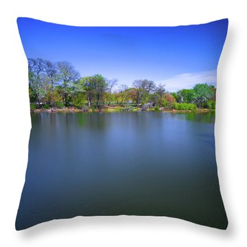 Jackson Park Throw Pillow by Jonah  Anderson