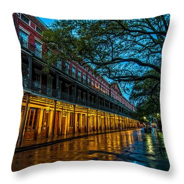 Jackson Square At Dawn Throw Pillow