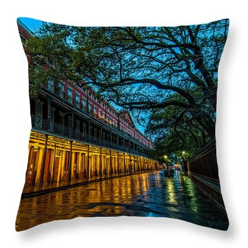 Jackson Square At Dawn Throw Pillow