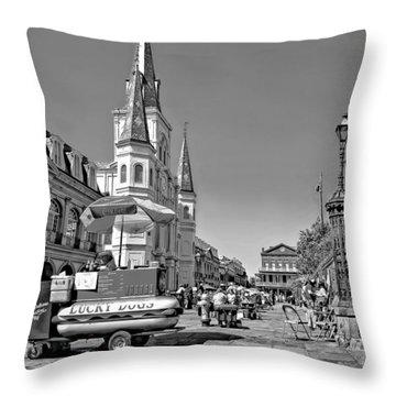 Jackson Square Monochrome Throw Pillow by Steve Harrington
