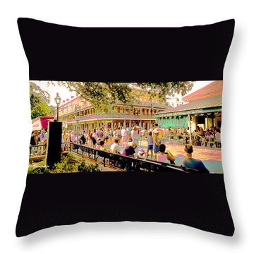 Throw Pillow featuring the digital art Jackson Square New Orleans Loisiana by A Gurmankin