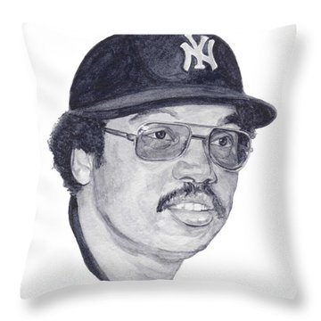 Throw Pillow featuring the painting Jackson by Tamir Barkan