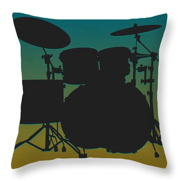 Jacksonville Jaguars Drum Set Throw Pillow by Joe Hamilton