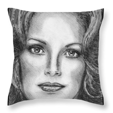 Jaclyn Smith In 1976 Throw Pillow