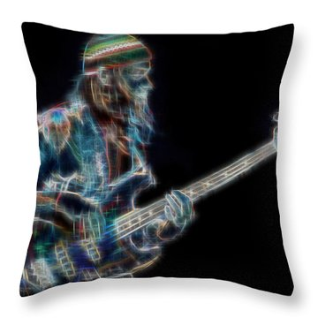 Throw Pillow featuring the digital art Jaco by Kenneth Armand Johnson