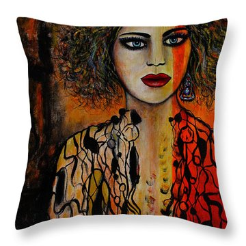 Jacquelyn Throw Pillow by Natalie Holland