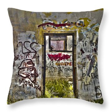 Jacumba Graffiti  Throw Pillow