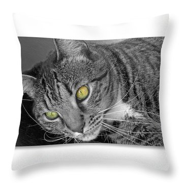 Jade - Black And White Throw Pillow