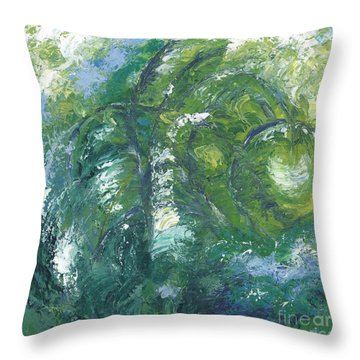 Jade Is The Color Of Your Energy Throw Pillow