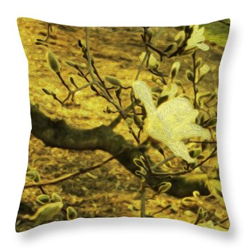 Jade Orchid Throw Pillow by Sonali Gangane