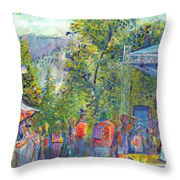 Jaden Carlson Band Groovefest Throw Pillow