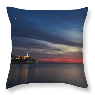 Throw Pillow featuring the photograph Jaffa On Ice by Ron Shoshani