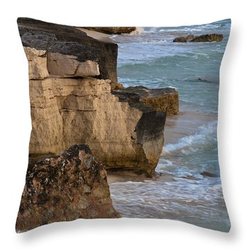 Jagged Shore Throw Pillow