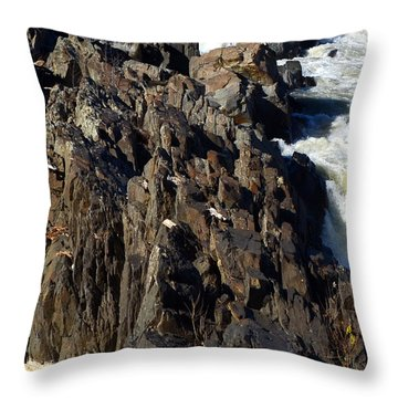 Jagged Waters Throw Pillow