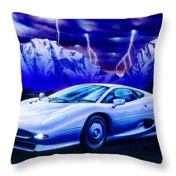 Jaguar 220 Throw Pillow by Garry Walton