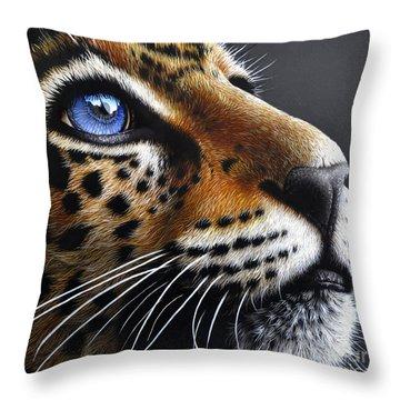 Jaguar Cub Throw Pillow by Jurek Zamoyski
