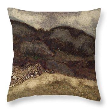 Jaguar Devouring Its Prey Throw Pillow by Antoine Louis Barye