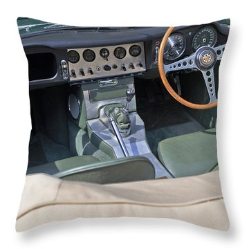 Jaguar E-type Series 1 Throw Pillow by Maj Seda
