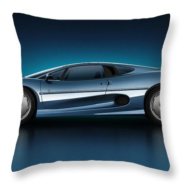 Jaguar Xj220 - Azure Throw Pillow