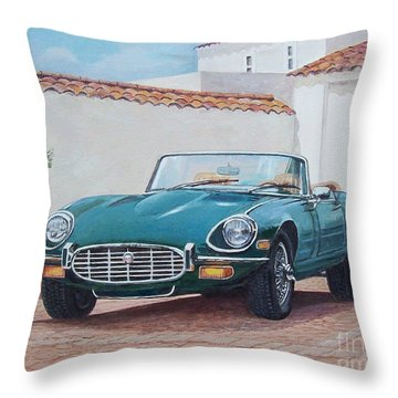 Jaguar Xke 1961-1975 Throw Pillow