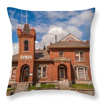 Jail Built In 1896 Throw Pillow by Sue Smith