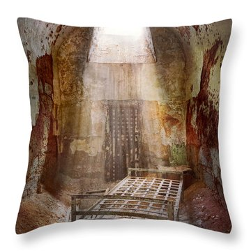 Jail - Eastern State Penitentiary - 50 Years To Life Throw Pillow by Mike Savad
