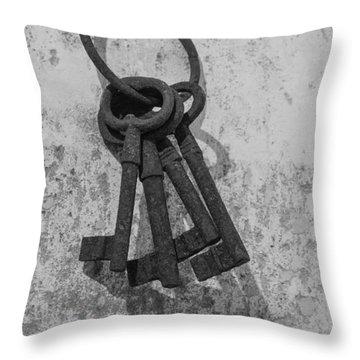 Jail House Keys Throw Pillow