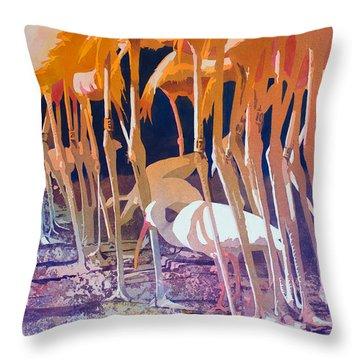 Jailbirds Throw Pillow by Kris Parins