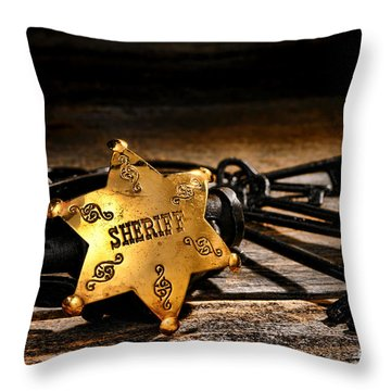 Jailer Tools Throw Pillow by Olivier Le Queinec