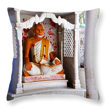 Jain Idol Throw Pillow