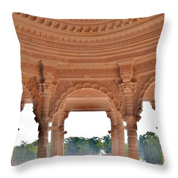 Jain Temple Entrance - Amarkantak India Throw Pillow by Kim Bemis