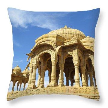 Jaisalmer Cenotaph Throw Pillow