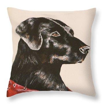 Jake Throw Pillow by Lisa Bentley