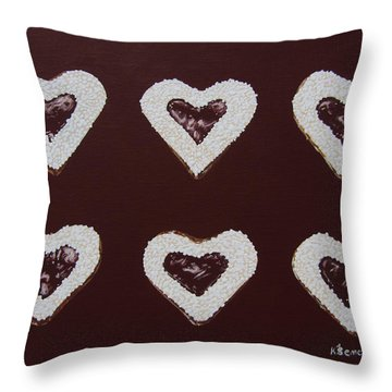 Jam-filled Cookies Throw Pillow
