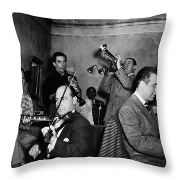 Jam Session, 1947 Throw Pillow by Granger