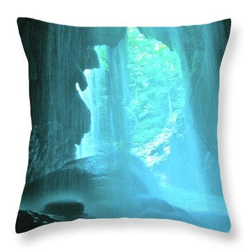 Jamaica Blue Throw Pillow by Carey Chen