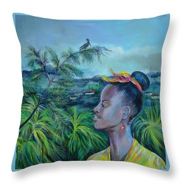 Jamaica. Part Two Throw Pillow by Anna  Duyunova