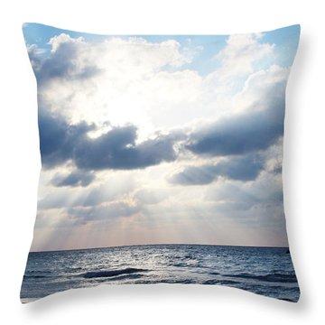 Jamaican Sunset2 Throw Pillow