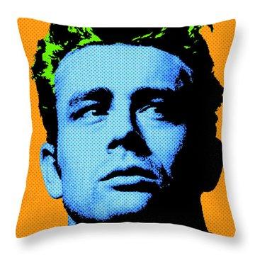 James Dean 004 Throw Pillow