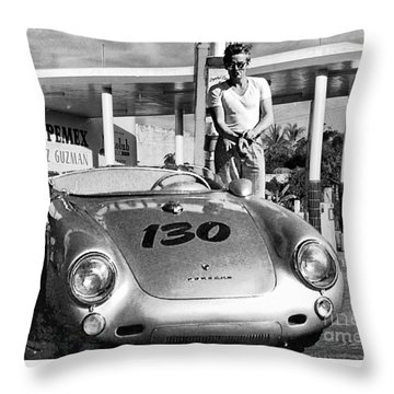 Last Picture Taken Of James Dean Throw Pillow